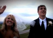 A snapshot from a wedding video
